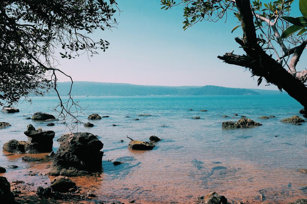 Île de Koh Rong, plage du Cambodge
