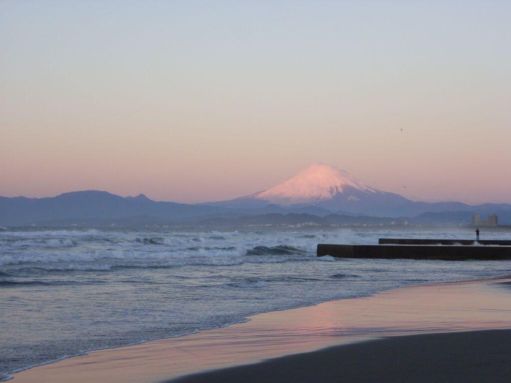 Enoshima, plage du Japon