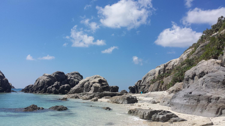 Aharen, Île de Tokashiki, plage du Japon