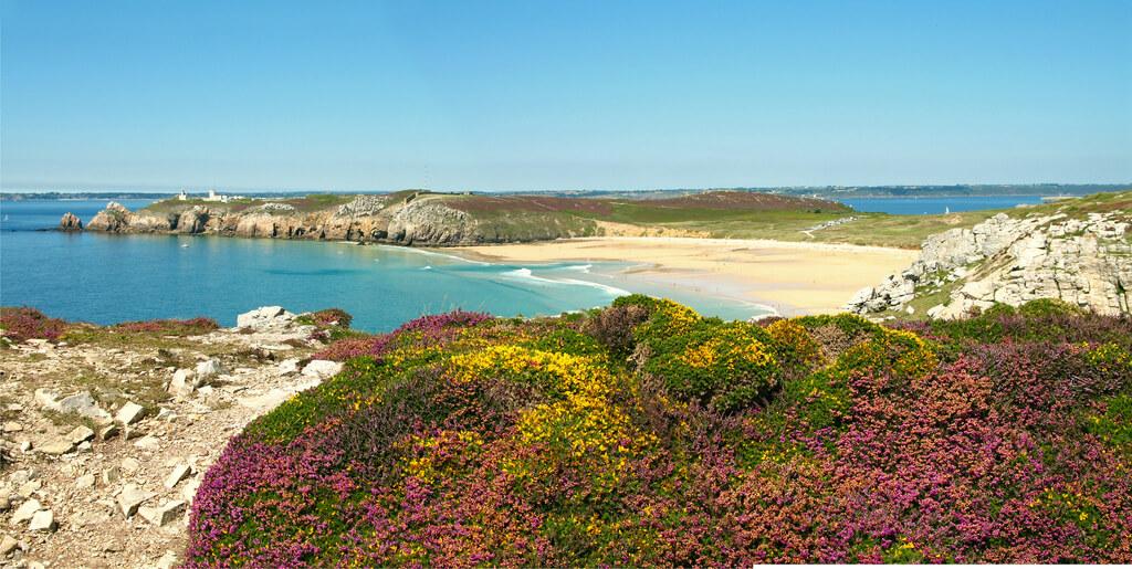 Crique de l'Île Vierge, Crozon, plage de Bretagne