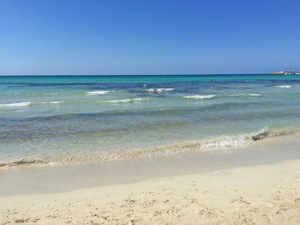 eau mer majorque es trenc plus belles plages d'espagne