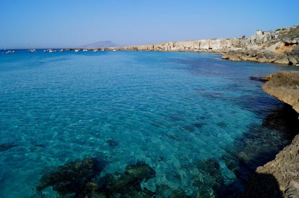 plage de favignana plus belles plages de Sicile