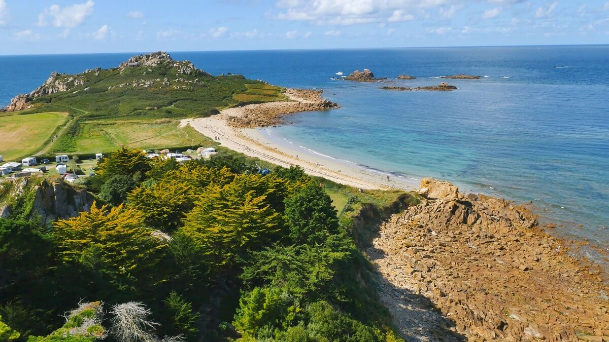 plougasnou plage paysage