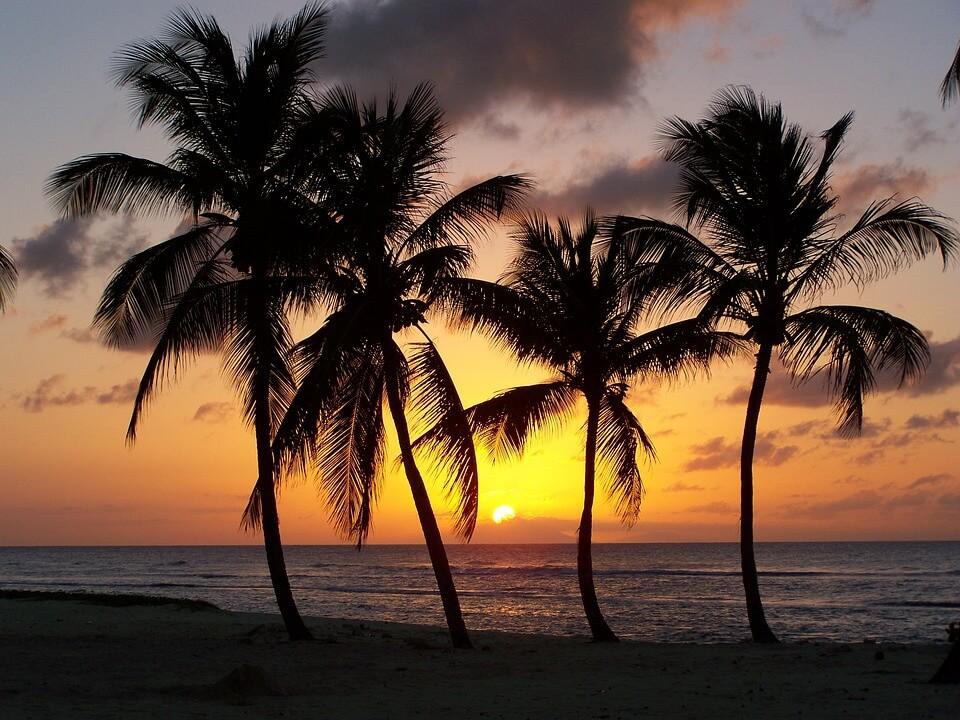 coucher de soleil anse bertrand