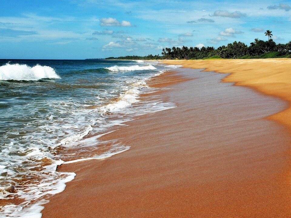 mer calme plage sable cocotier plus belles plages du sri lanka