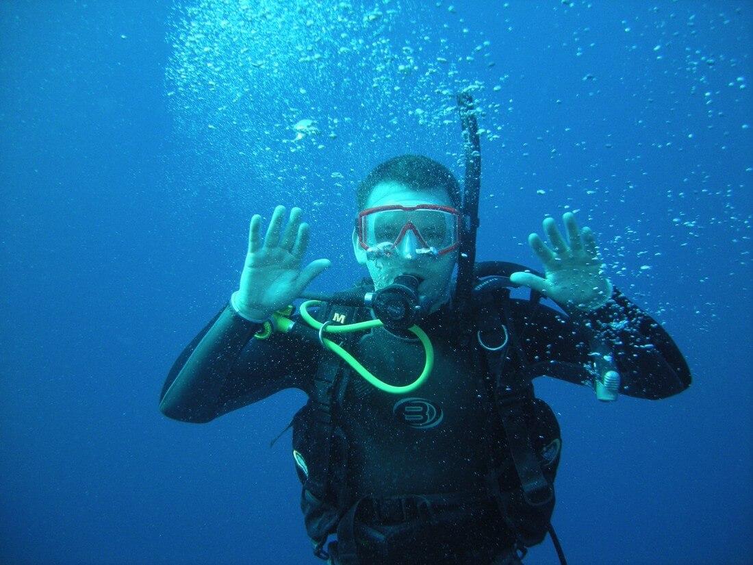 plongeur plongée à cuba