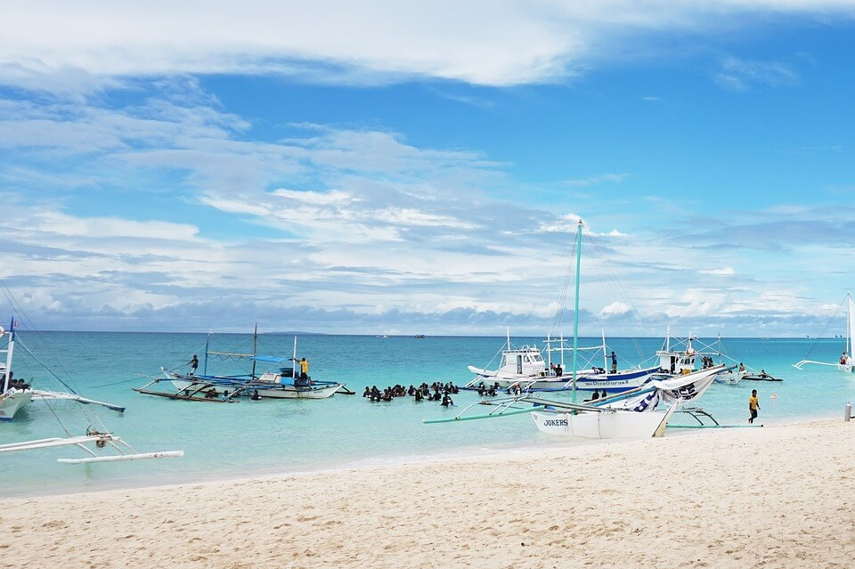 plage bateau de plongee philippines