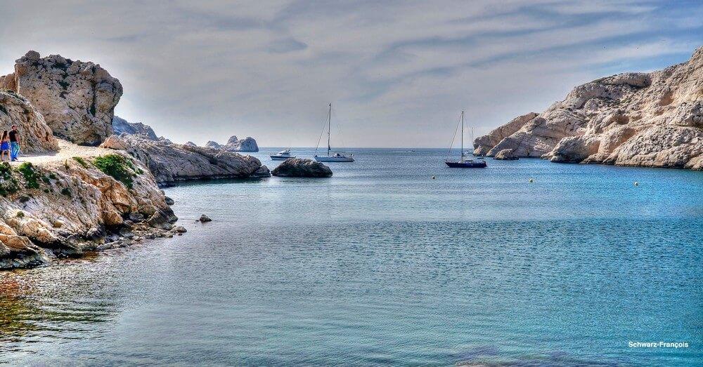 frioul point de vue sur la mer où se baigner à marseille
