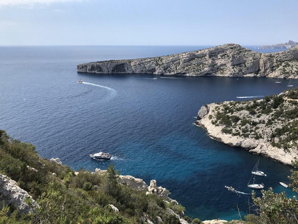 calanque de morgiou panorama mer où se baigner à marseille