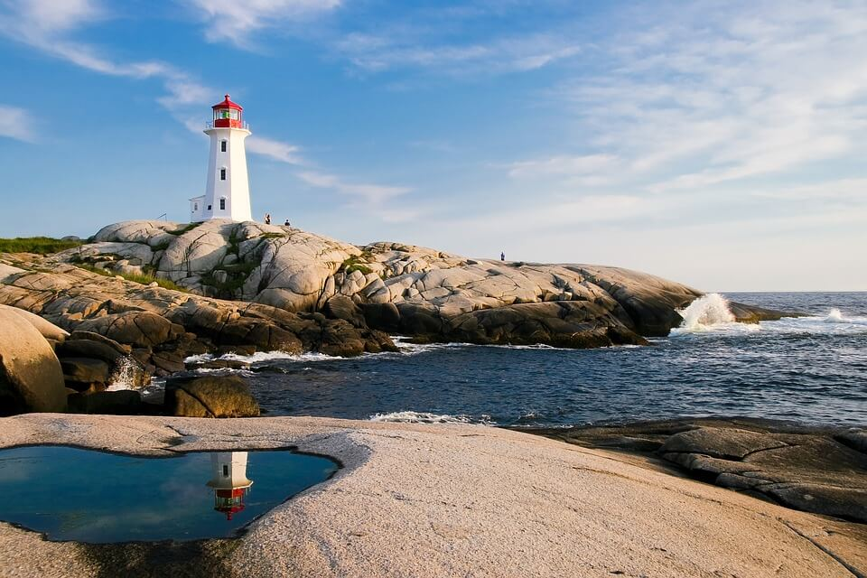 phare ocean canada rochers