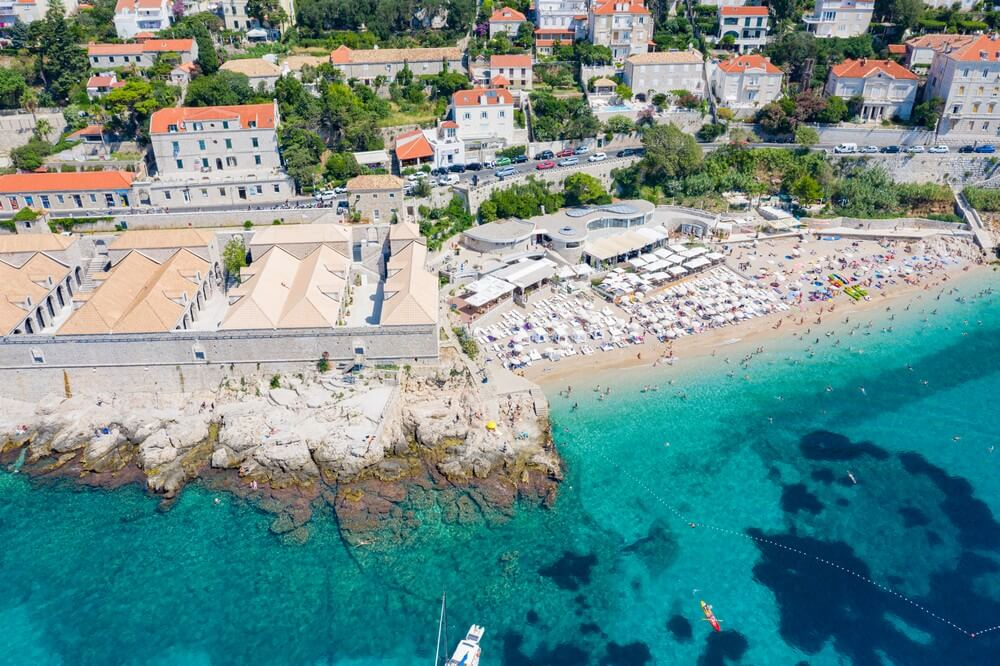 banje beach vue du ciel plages de croatie