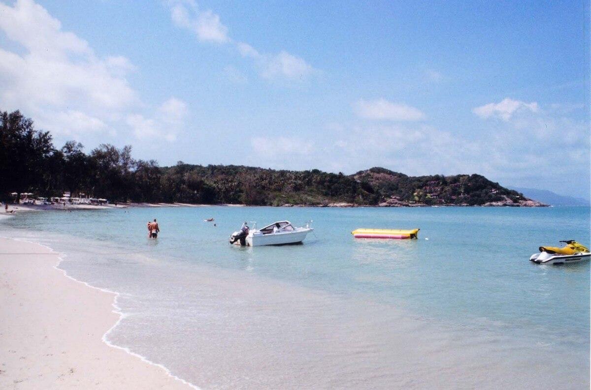 bateaux plage de choeng plages de koh samui