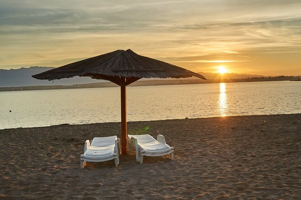 transat coucher de soleil plages de croatie
