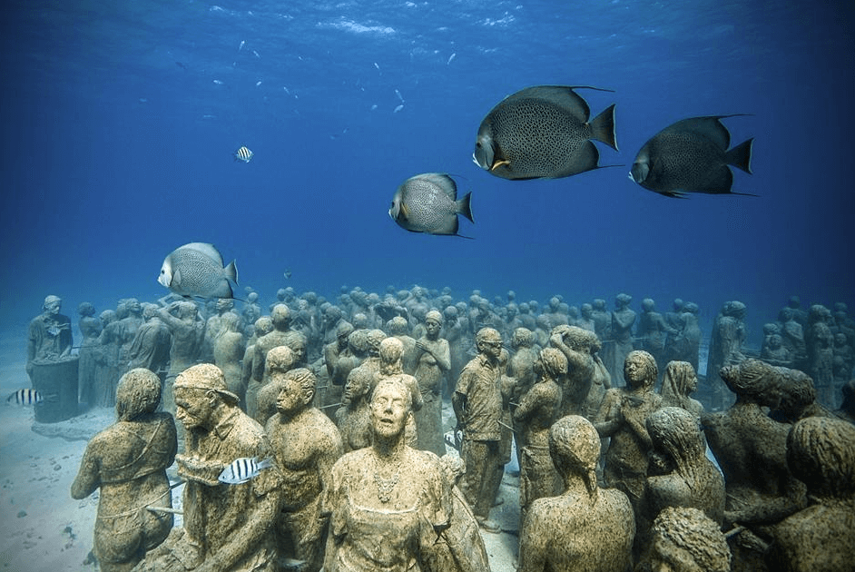 poissons sculptures musée sous-marin de Cancun