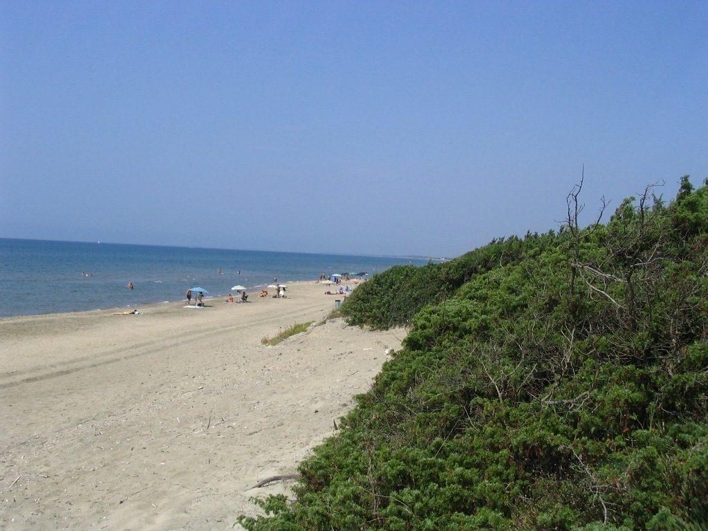 La plage de Sabaudia est tout indiquée pour ceux qui recherchent un endroit calme, pour se détendre loin de la foule.