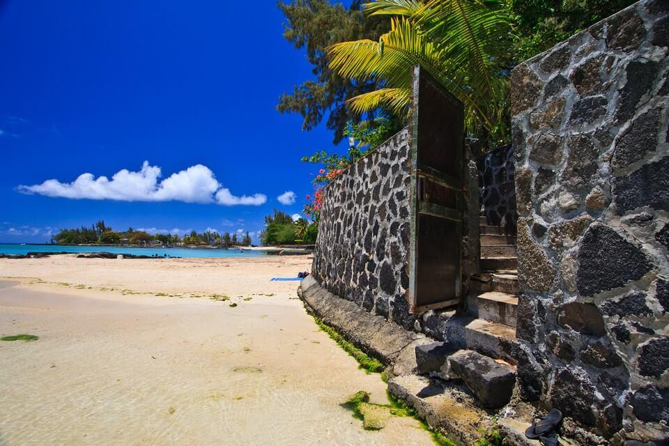 pereybere plage mur sable plages de l'île Maurice