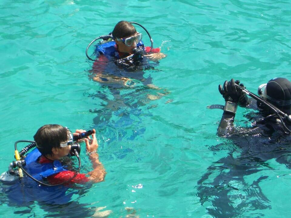 instructions plongée eau claire plongée à Majorque