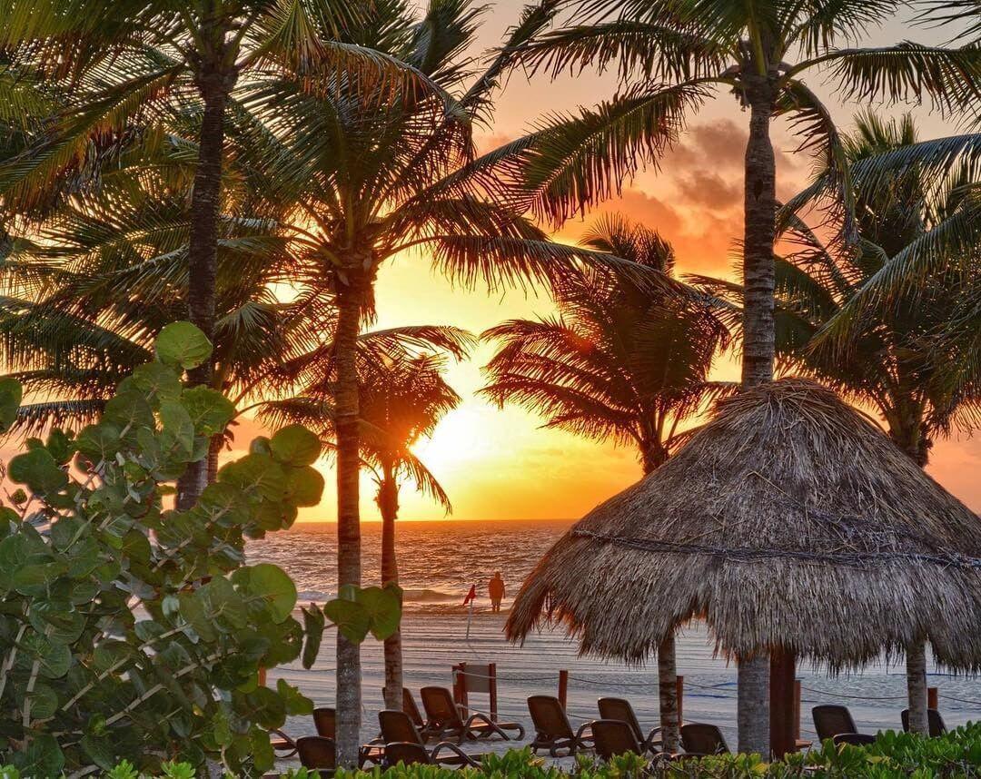 coucher de soleil playa del carmen mexique plus belles plages d'Amérique du Sud