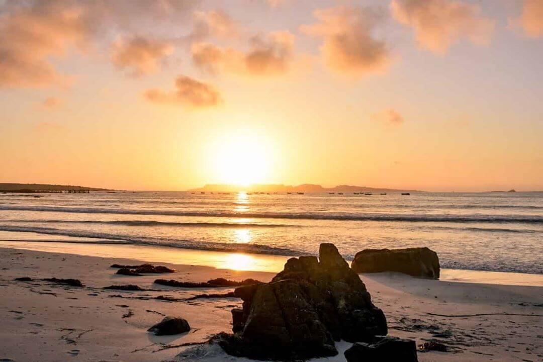 coucher de soleil plus belles plages d'Amérique du Sud punta de choros