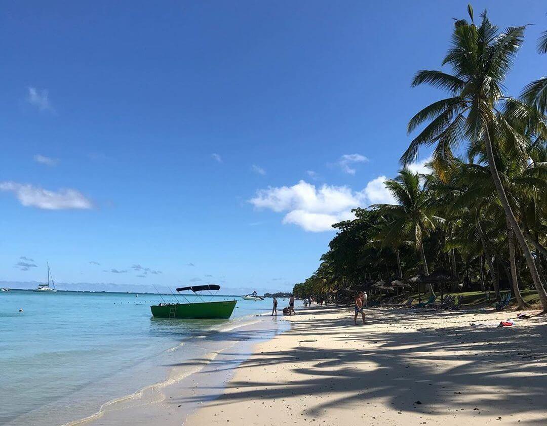 plage cocotiers plage de Trou aux Biches île Maurice