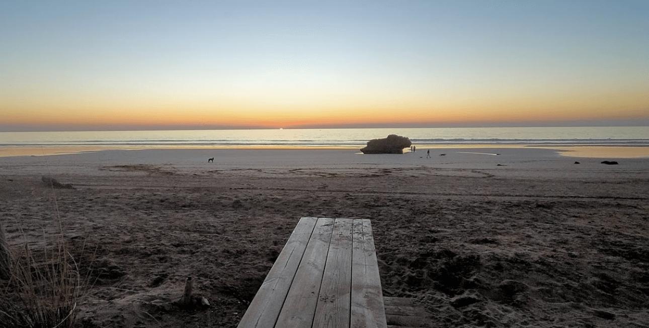 coucher de soleil plage imourane plages d'agadir