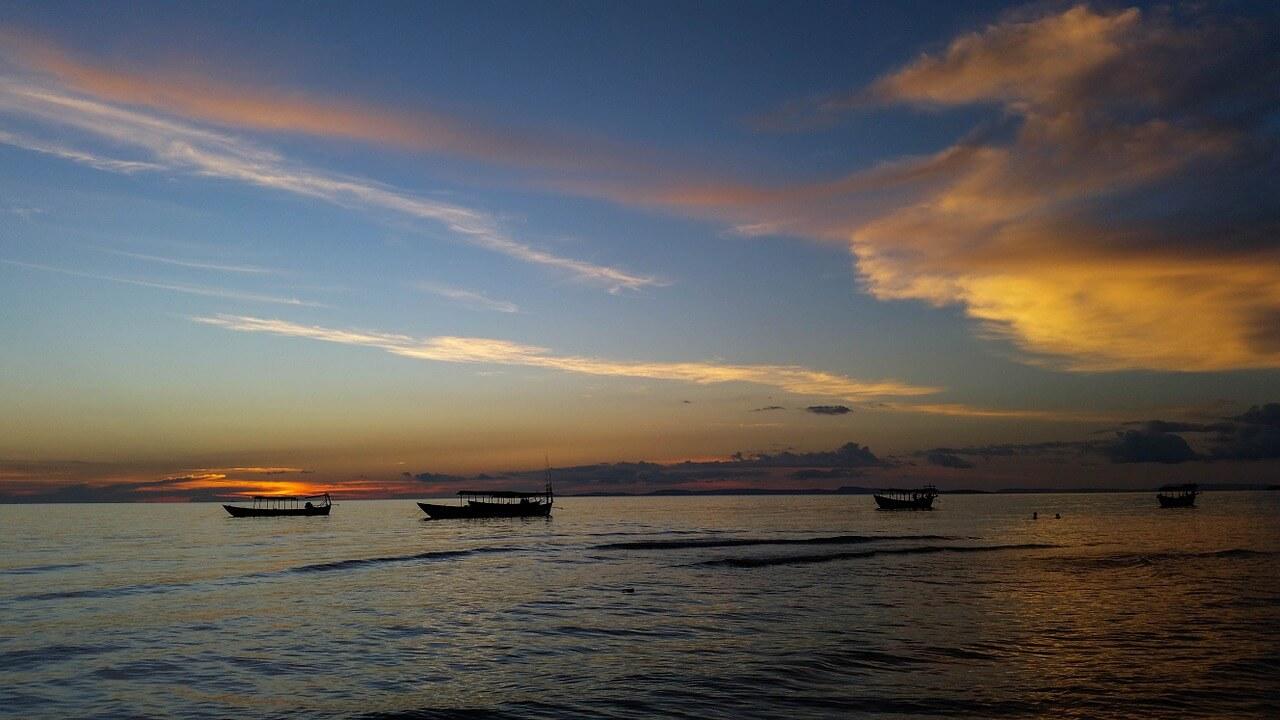 coucher de soleil sable plages de Sihanoukville