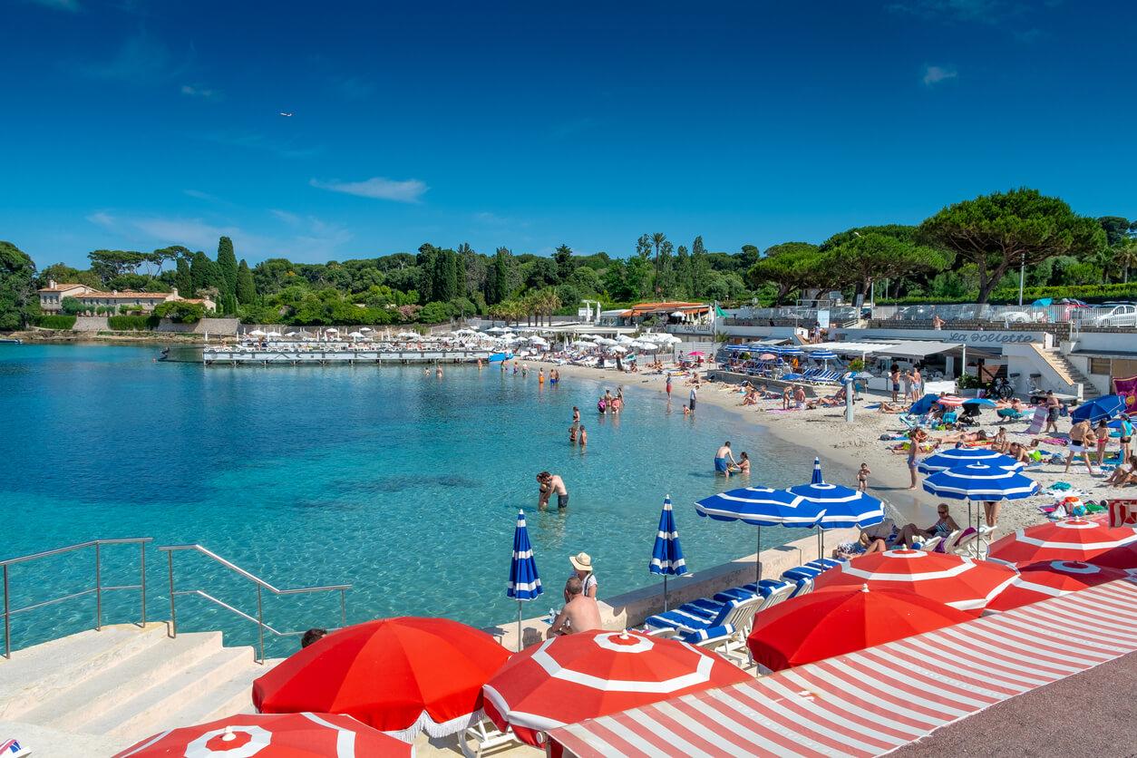 La plage de la Garoupe, Antibes