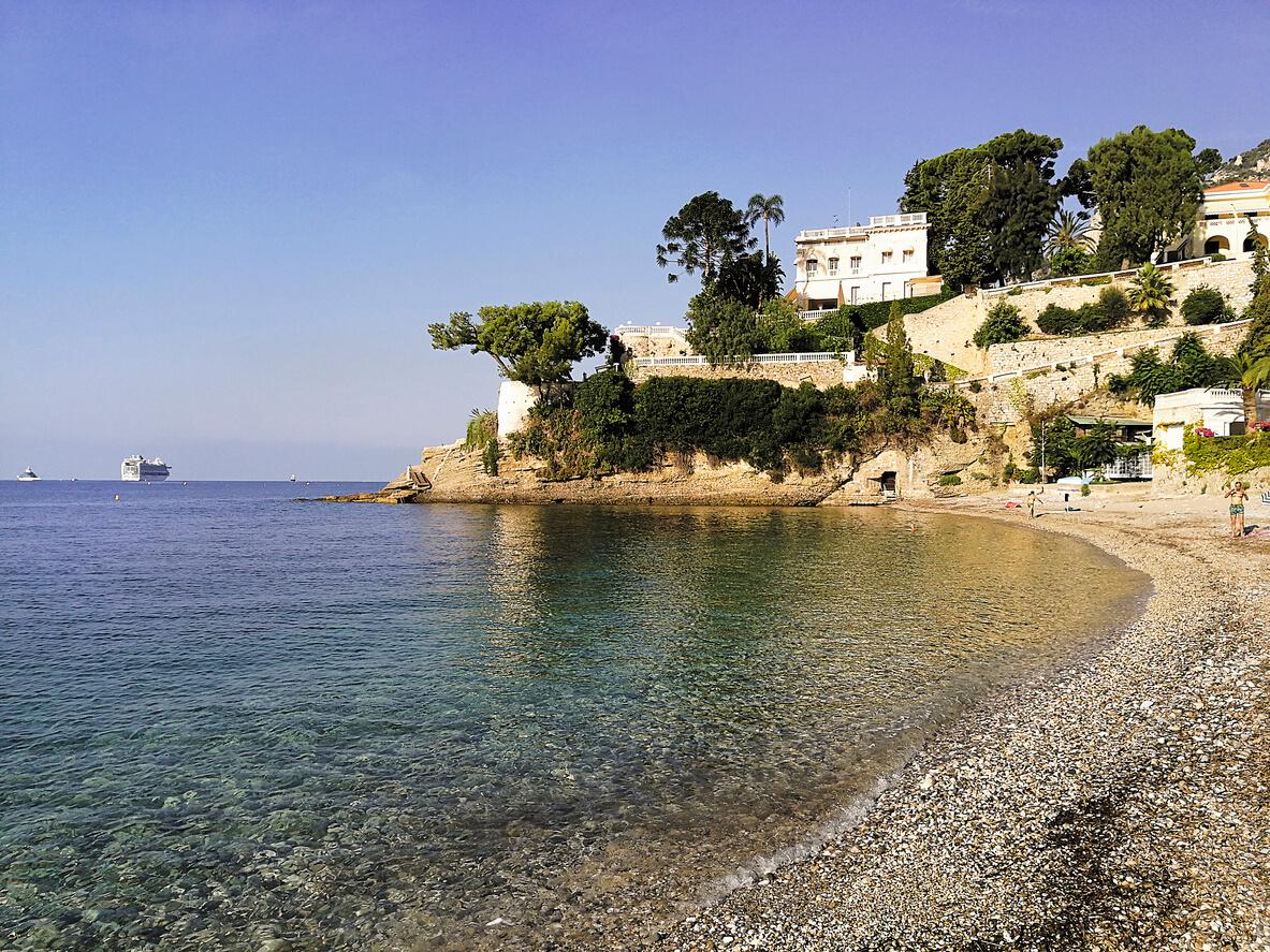 La plage du Buse, Roquebrune-Cap-Martin